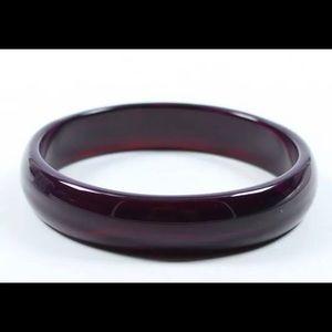 Grade Agate Chalcedony Lavender Purple Jade Bangle